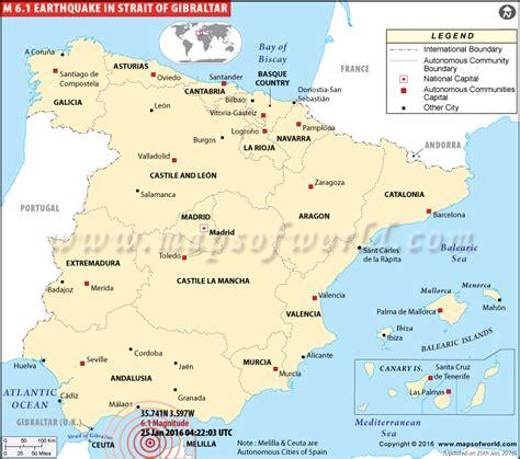 gibraltar earthquake map earthquakes  gibraltar