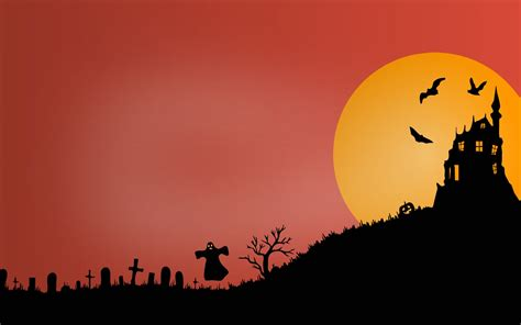 wallpaper haunted castle scary graveyard ghost hd