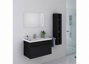 meuble de salle de bain noir brillant meuble de salle de With meuble salle de bain eco