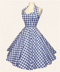 Robe courte vivien holloway vichy bleu en coton for Robe vichy bleu
