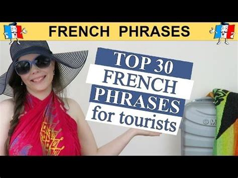 Learn French - Basic Phrases for Tourists - YouTube ...