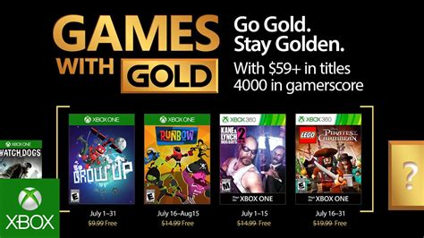 xbox july free games xbox july 2017 with gold