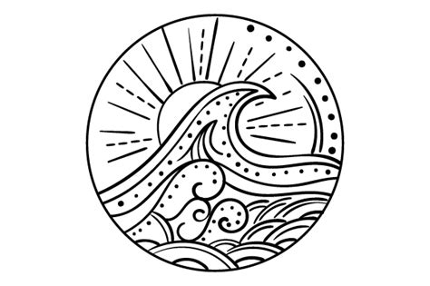 Check out our ocean mandala svg selection for the very best in unique or custom, handmade pieces from our digital shops. Ocean Wave (mandala Style) (SVG Cut file) by Creative ...