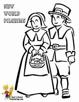 Thanksgiving Coloring Pages Pilgrims Printable Pilgrim July 4th Easy Turkey Mayflower Yescoloring Bountiful Tall Activity Usa sketch template