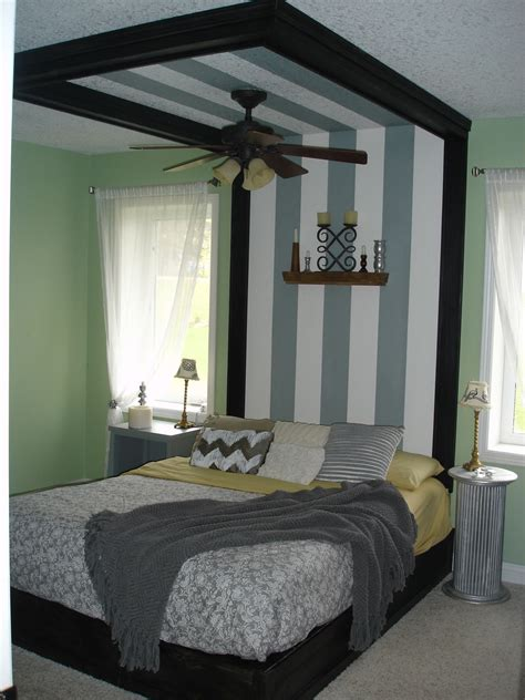 coffered canopy bed   designed