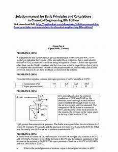 Solution Manual For Basic Principles And Calculations In