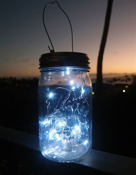 led mason jar light cool white