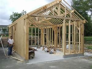 Garage Ossature Bois : constructeur maison en bretagne ossature bois menuisier ~ Melissatoandfro.com Idées de Décoration