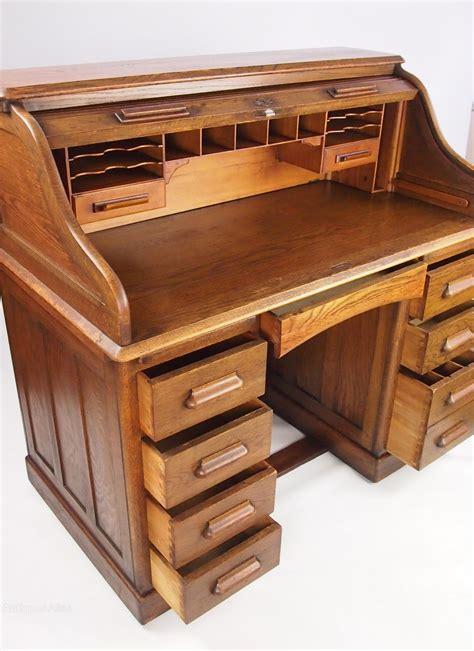 top bureau antique oak roll top bureau desk by lebus antiques atlas