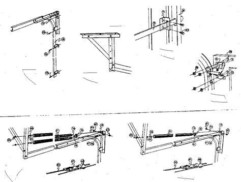 Garage Door Parts by Clopay Garage Door Parts Diagram Dandk Organizer