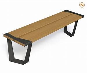 Banquette Bois Exterieur : banc bois metal legna guyon mobilier urbain outdoormobilier urbain guyon sa fabricant ~ Farleysfitness.com Idées de Décoration