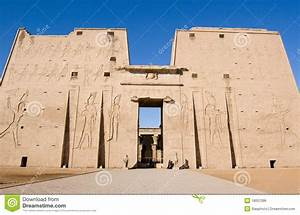 Temple Of Horus, Edfu, Egypt Royalty Free Stock Image ...