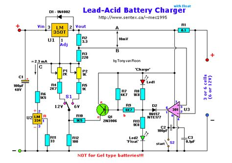 Lead Acid Battery Charger With Float