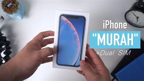 unboxing iphone xr indonesia murah dual sim