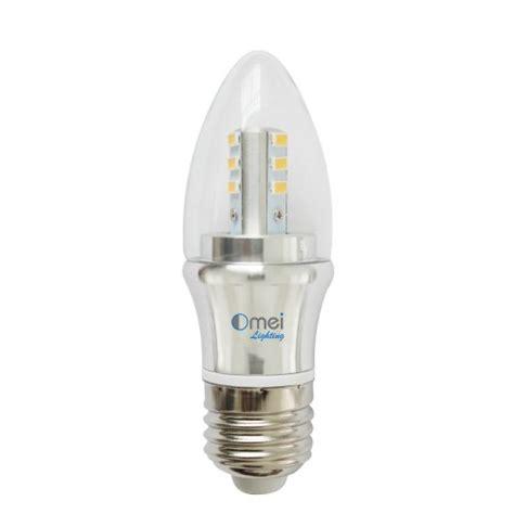 dimmable 60w e26 medium base 6w led chandelier light bulbs
