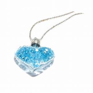 collier sautoir avec un coeur bleu itisbijouxfr With robe de cocktail combiné avec swarovski collier bleu