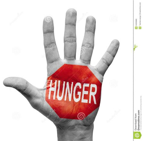 what does the hunger sign hunger stop concept royalty free stock photo image