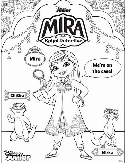 Mira Coloring Detective Royal Mikku Chikku Disney