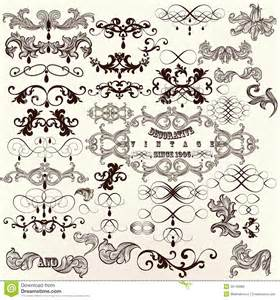 calligraphic set of vintage vector decorative elements royalty free stock photos image 35146888