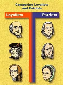 8 Best Images Of Patriots Vs Loyalists Comparison Chart