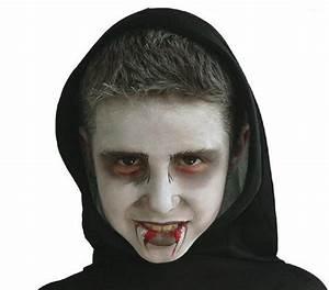 Maquillage Halloween Enfant Facile : maquillage vampire yeux rouge ~ Nature-et-papiers.com Idées de Décoration