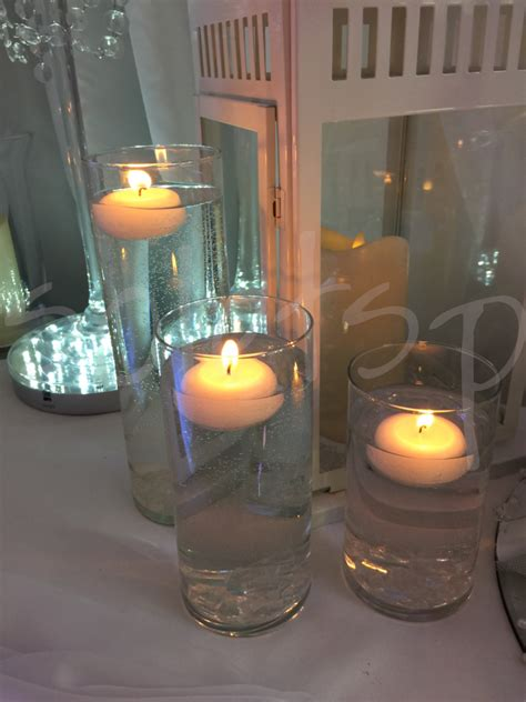 candle trio table decoration  lets party