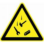 Falling Objects Sign Hazard Clipart Danger Warning