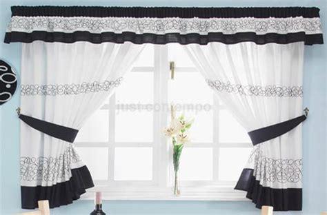 black  white kitchen curtains home trendy