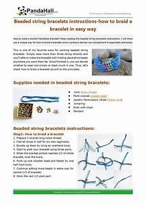 Beaded String Bracelets Instructions