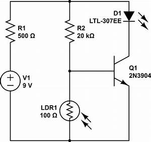 Current - Inverted Photocell  Novice Question