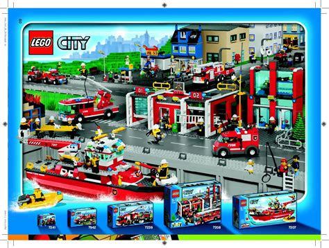 Lego Fire Boat Instructions 7207, City