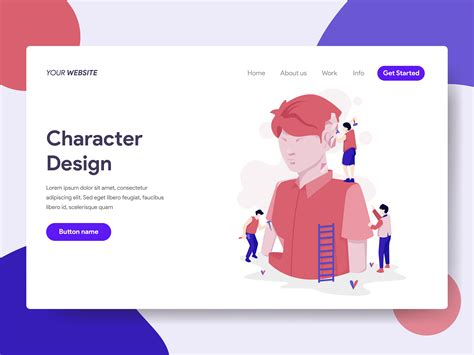 landing page template  character design process