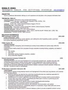 sql skills in resume skill based resume sle database administrator