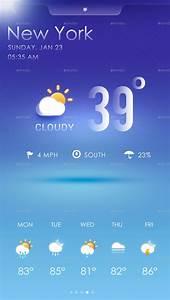 Weather App  U2013 17  Free Psd  Eps  Format Download