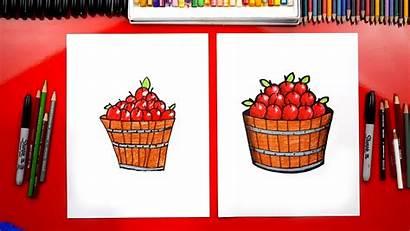 Draw Apple Fall Barrel Fruit Hub Artforkidshub