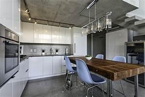 Lampe Suspendue Cuisine : loft moderne vancouver avec vues splendides ~ Edinachiropracticcenter.com Idées de Décoration