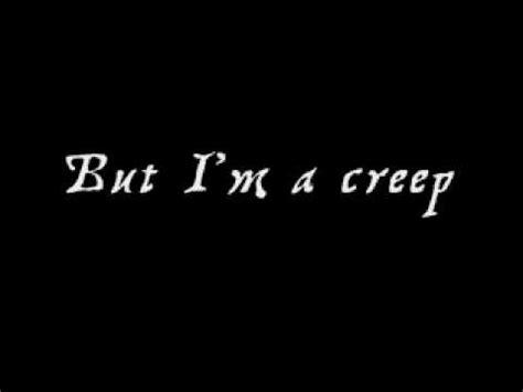 I'm a Creep Lyrics Radiohead