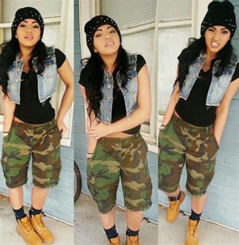 Shorts outfit camouflage shorts dope tomboy - Wheretoget