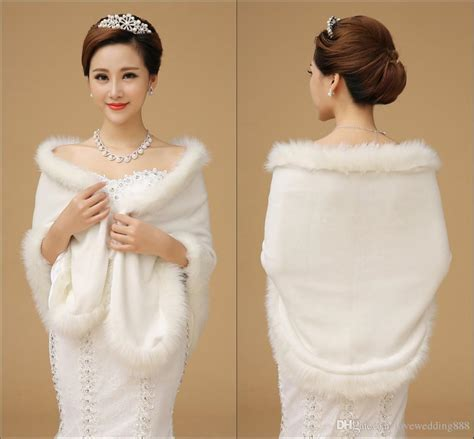 2019 Cheap 2015 Wedding Accessories Winter Wedding Coat