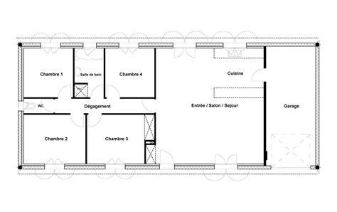 plan maison 100m2 4 chambres plan maison 4 chambres agrandir le plan gallery of plan