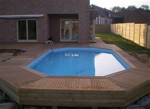Piscine Semi Enterré Bois : piscine semi enterre bois leroy merlin excellent dco ~ Premium-room.com Idées de Décoration