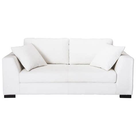 canape blanc cuir canapé en cuir blanc canap convertible 3 places en cuir