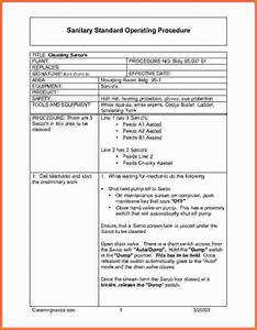 Standard operating procedure template wordsop procedure for Standard operating guidelines template