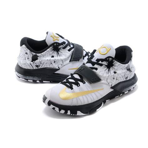 "Custom Nike Kd 7 (vii) ""fireworks"" Blackwhitemetallic"