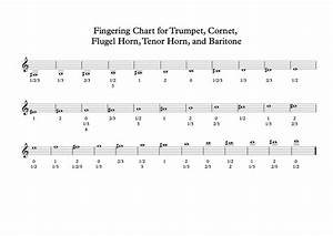 baritone finger chart treble clef 3 valve chart for brass band players what brass