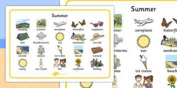 summer word mat summer holidays word mat writing aid