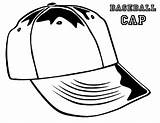 Baseball Hat sketch template