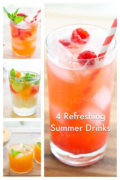 4 refreshing summer drinks all non alcoholic and easy to