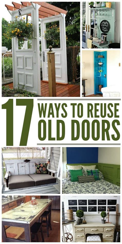 crafty ways  reuse  doors cool stuff pinterest