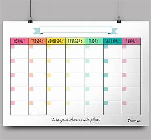 Calendar Monthly Planner - Printable